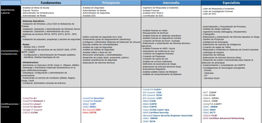 Desarrollo profesional en blueteam (defensa)